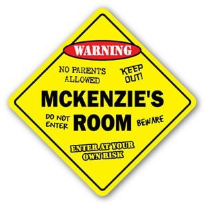 Mckenzie Bumper - MCKENZIE'S ROOM Sticker Sign kids bedroom decor door children's name boy girl gift - Sticker Graphic Personalized Custom Sticker Graphic