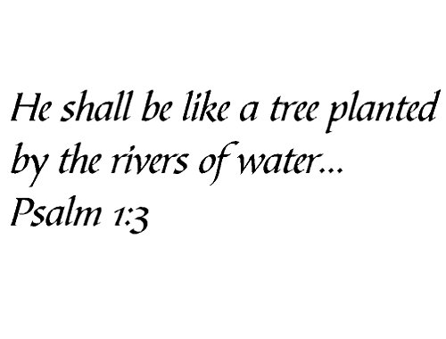 Tapestry Of Truth - Psalm 1:3 - TOT6473 - Wall and home scripture, lettering, quotes, images, stickers, decals, art, and more! - He shall be like a tree planted by the rivers of water... Psalm 1:3 (A Tree Planted By Rivers Of Water)