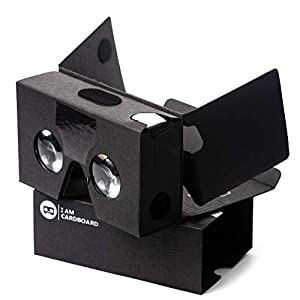 I Am Cardboard VR Box | The Best Google Cardboard Virtual Reality Viewer for iPhone and Android | Google Cardboard v2 Headset Inspired | Small and Unique Travel Gift Under 20 Dollars (Black)