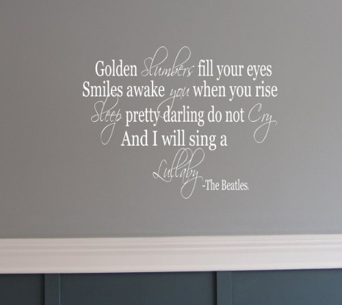 Amazon.com: Golden Slumber The Beatles song quote wall saying