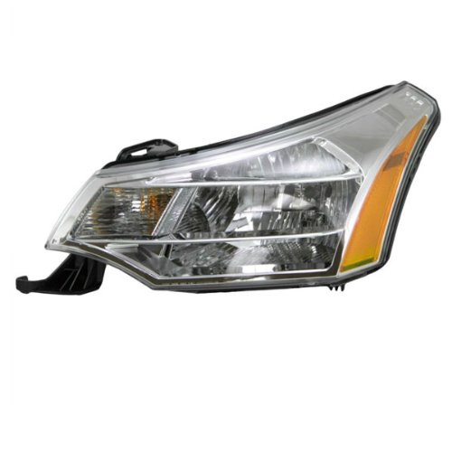 Koolzap For 08-11 Focus Headlight Headlamp Chrome Bezel Head Light Lamp Left Driver Side - 09 Trims Ses
