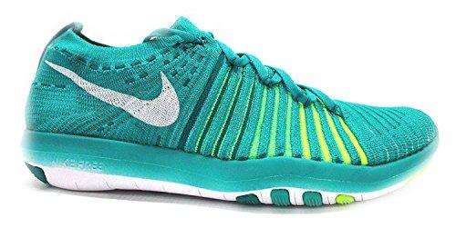 Nike Womens Omforma Fritt Flyknit Träningsskor Klar Jade / Vit-total Röd Spänning Grön