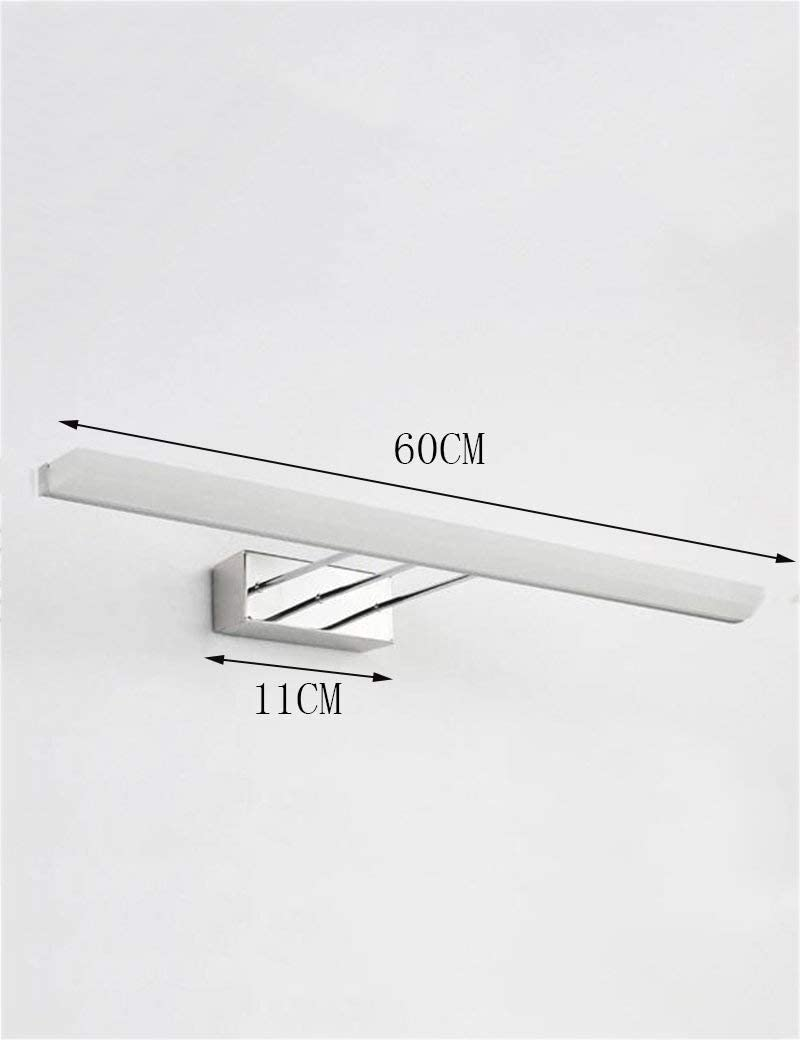 LAMP Light Home Badezimmerspiegel Scheinwerfer Led Bad Modern Minimalist Front Lights - Beleuchtung Mirror-Mirror von Scheinwerfern,White Light-100cm White Light-60cm