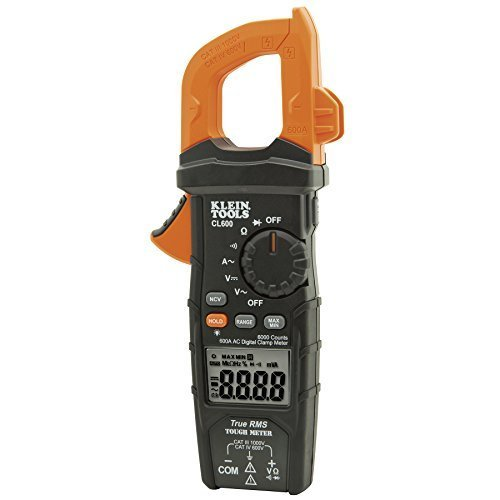 Digital Clamp Meter AC/DC Auto-Ranging 600 Amp Measures Voltage, Resistance, More Klein Tools CL600
