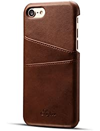 Leather iphone case for Iphone 7 | Iphone 7 Plus | Iphone 8 | Iphone 8 Plus | Ultra-Slim Leather Credit Card Holder