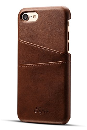 Leather Mobile Phone Covers (Iphone 8 Wallet Phone Case | Ultra-Slim Leather Credit Card Holder | Store Bank, Debit, Personal ID | Leather iPhone Case | Mobile Phone Case | Phone Cover | For Girls | Boys| Men | Women)