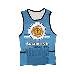 Argentina Triathlon Top for Men - Size S