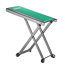 Neewer NW001 Adjustable Guitar Foot Stool, Sturdy Solid Iron Pedal Rest with 4 Fixed Height Positions Non-slip Rubber End Caps and Pad for Classical Flamenco Acoustic or Electric Guitar Players(Green)