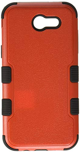 Asmyna Cell Phone Case for Samsung Galaxy J3 - Natural Red/Black