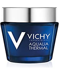 Vichy Aqualia Thermal Night Spa with Hyaluronic Acid Replenishing Anti-Fatigue Night Cream and Face Mask, 2.54 Fl. Oz.