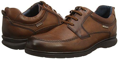 4038 Cordones Hombre Zapatos Cuero Derby Marrón Con San Lorenzo Pikolinos brown OqwTx4EZp