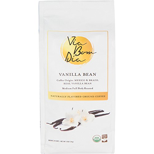 (100% Naturally Flavored Organic Gourmet Coffee, Vanilla Bean Ground Coffee, 12 oz.)