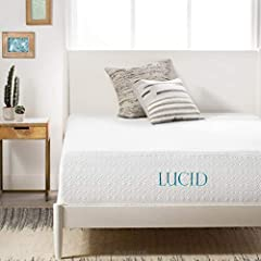 The FeelThis plush mattress is all about plush comfort. At the surface, a 1 inch layer of bamboo charcoal infused memory foam is quilted into the cover. Bamboo charcoal is especially good for sensitive skin and has improved thermal regulation...