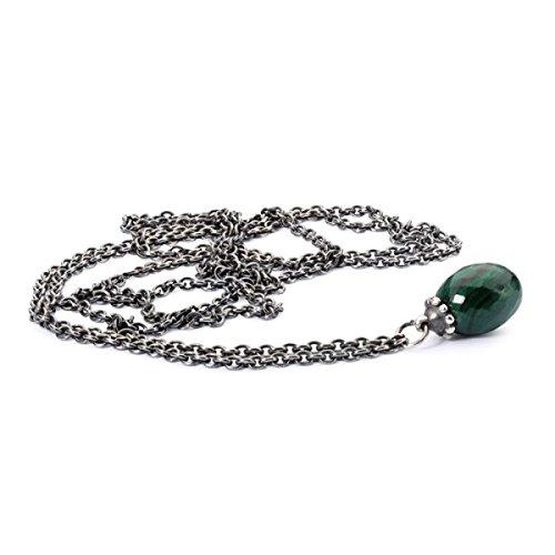 Trollbeads Fantasy Necklace with Malachite 80cm- TAGFA-00036