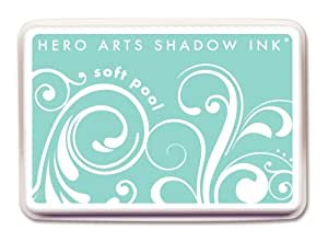 Hero Arts Rubber Stamps Shadow Ink, Soft Pool