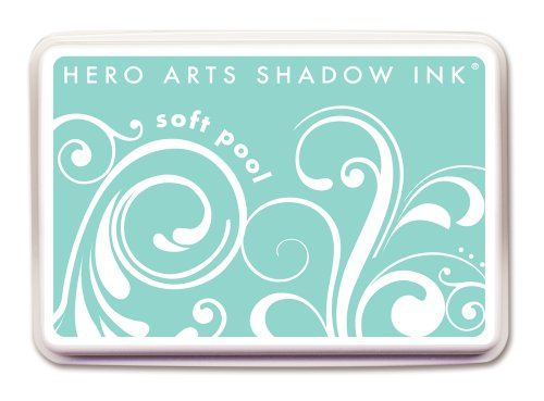 Hero Arts Rubber Stamps Shadow Ink, Soft Pool by Hero Arts Rubber Stamps