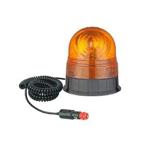 JBM 51960 Luz de Emergencia, Rotativo Magnético con Cable, Girofaro, Luz de Advertencia