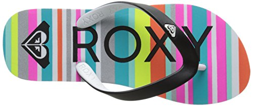 Roxy Rg Tahiti V, Mädchen Zehentrenner Mehrfarbig - Multicolore (Aquamarine)
