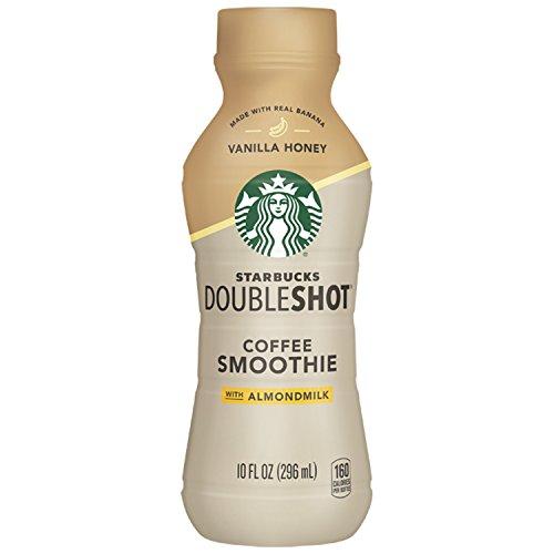 (Starbucks Doubleshot Coffee Smoothie, Vanilla Honey with Almond Milk, 10 Ounce, 8 Bottles)