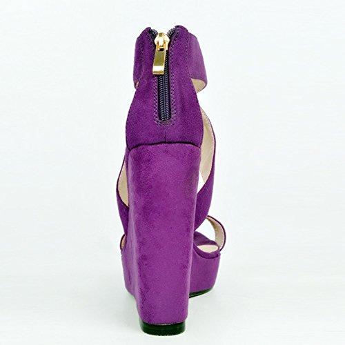 Kolnoo - Pantuflas de caña alta Mujer morado