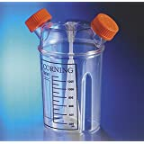 Corning 3580 Plastic Disposable Spinner Flask with Vent Cap, Sterile, 1L Maximum Working Volume (Case of 6)