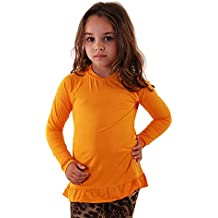 Camiseta Kids Manga Longa UV com Babados Girls