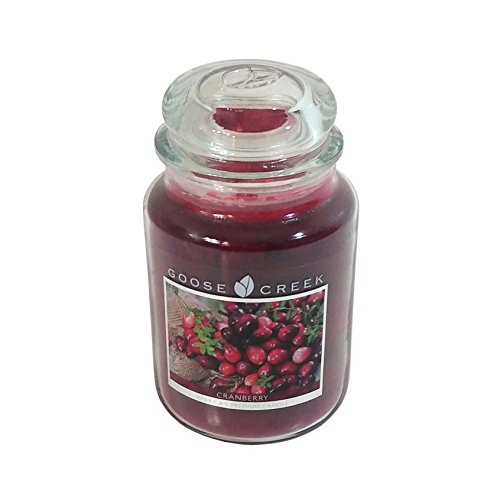 CRANBERRY SCENTED RED GOOSE CREEK 24OZ 150 HOURS CANDLE JAR