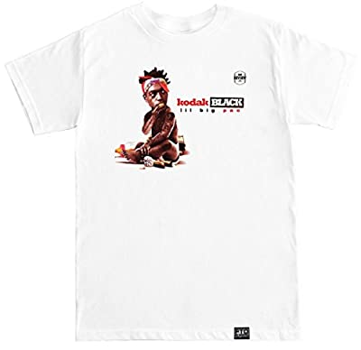 FTD Apparel Men's Kodak Black T Shirt - Large White