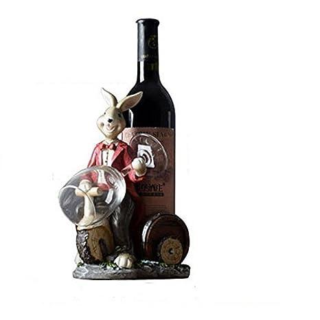HAIZHEN Estante de Vino Americano Encantador Portavasos Bottle Rack Animal Titular Vino de Salón Armario Bodega