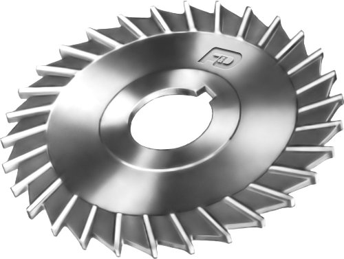 F&D Tool Company 14841-B436 Slitting Saw with Side Chip Clearance, High Speed Steel, 4'' Diameter, 1/16'' Width of Face, 1'' Hole Size by F&D Tool Company