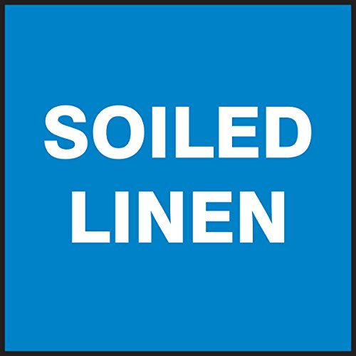 Accuform Signs LBHZ502XVE Safety Label, Legend SOILED LINEN, 4
