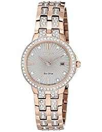 Citizen Women's 'Silhouette' Quartz Stainless Steel Casual Watch (Model: EW2348-56A)