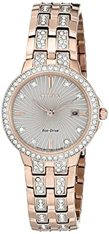Citizen Women's 'Silhouette' Quartz Stainless Steel Casual Watch (Model: EW2348-56A) - Citizen Eco Drive Silhouette