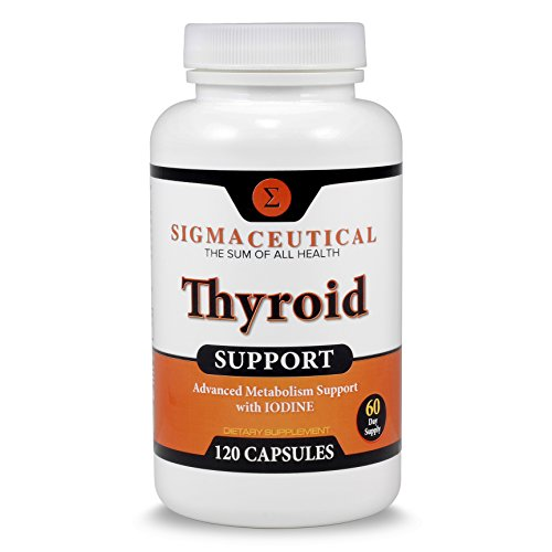 Thyroid Support Supplement - Iodine Supplement - Zinc and Selenium Supplement - Natural Weight Loss - Best for Energy & Metabolism w/ Magnesium & Kelp - 60 Day Supply (100% More Than Other Brands)