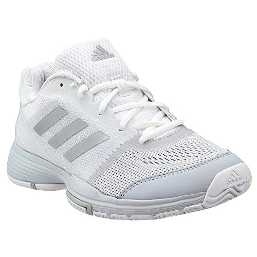on sale 16b31 ed7e1 adidas Women s Barricade Club Tennis Shoes, White Metallic Silver Core  Pink, ((5.5 M US)
