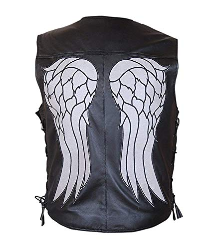 Febzo Fashions Halloween and Inner Wear Vest - Pure Leather Vest (Large Jacket Chest 48