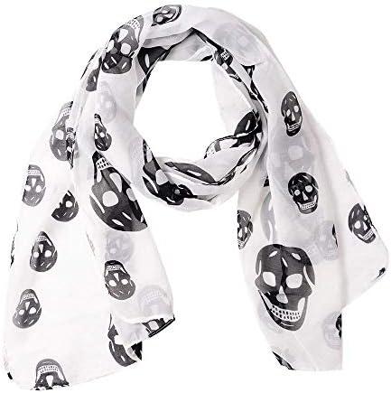 Womens Large Chiffon Skulls Printed product image