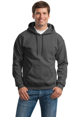 Gildan Activewear Heavy Blend Hooded Sweatshirt, XL, Dark (Heavy Hooded Top)