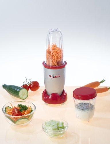 Gourmet Maxx 3186-1 - Batidora multifunción, juego de 18 piezas, 8 funciones, color rojo/gris [Importado de Alemania]: Amazon.es: Hogar