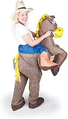 Inflatable Costumes Paul Lamond Games - Disfraz de cowboy con caballo hinchable para adultos