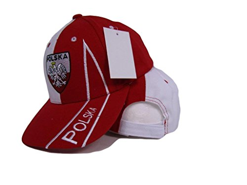 Polska Poland Polish Eagle Red and White Baseball Hat Cap 3D embroidered