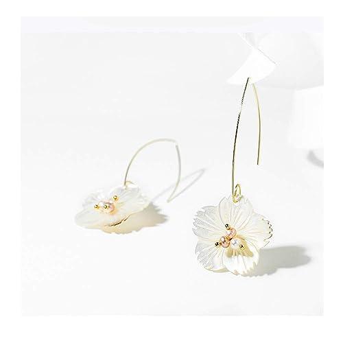 Pendientes de flores y perlas con forma de gota de lujo para uso ...