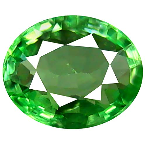 0.54 ct Oval Cut (5 x 4 mm) Un-Heated Tanzanian Tsavorite Garnet Loose Gemstone