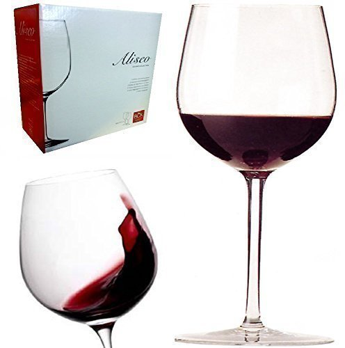DELUXE ITALIAN RCR ALISEO CRYSTAL GLASS RED WINE TASTING GLASSES GIFT BOX SET