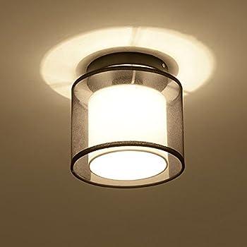 Amazon woerfu semi flush mount ceiling lights black finish woerfu semi flush mount ceiling lights black finish fabric shade pendant light fixture aloadofball Choice Image
