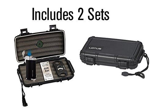 Lotus Vgs Travel Humidor Lighter Cutter Set 2 Pack Buy