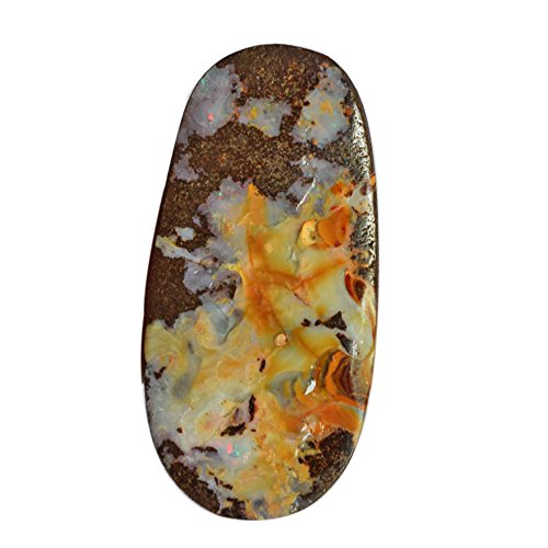 Queensland Solid Boulder Fire Opal Cabochon, Size 37X19X5 MM, Designer Jewelry Making Opal Supplies AG-6401 (Queensland Boulder)
