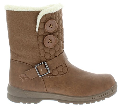 Winter Light Circle Brown Boot Warm Snow Womens Waterproof totes for TPfvFaxw