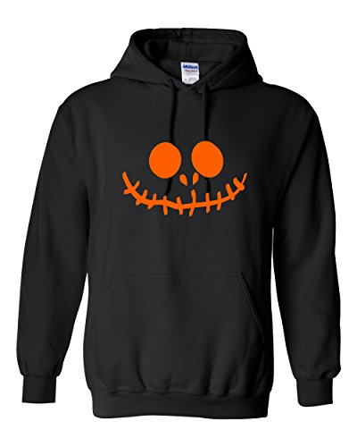 Stitched Pumpkin Emoticon Smile Face Graphic Costume Funny Halloween 5XL Black (Offensive Funny Halloween Costume Ideas)