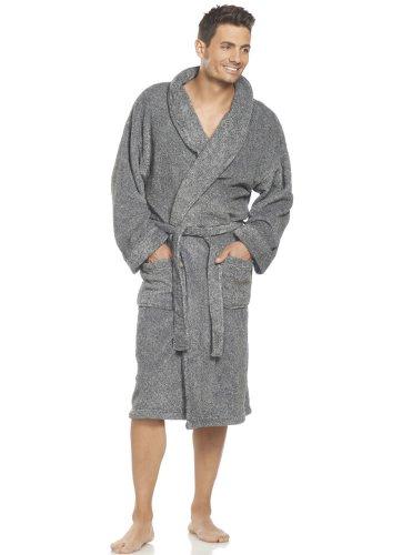 UPC 026718789273, Jockey Men's Sleepwear Fleece Robe, black heather, ALL